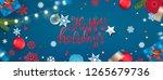 happy holidays banner.... | Shutterstock .eps vector #1265679736