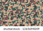 digital pixel camouflage ... | Shutterstock .eps vector #1265694049