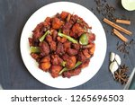 chicken 65  south india's...   Shutterstock . vector #1265696503