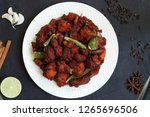 chicken 65  south india's...   Shutterstock . vector #1265696506