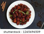chicken 65  south india's...   Shutterstock . vector #1265696509