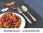 chicken 65  south india's...   Shutterstock . vector #1265696530