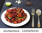 chicken 65  south india's...   Shutterstock . vector #1265696533