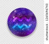 aquarius zodiac sign and... | Shutterstock .eps vector #1265696743