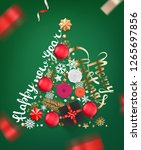 abstract christmas tree of... | Shutterstock .eps vector #1265697856