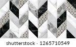 colorful digital wall tiles... | Shutterstock . vector #1265710549