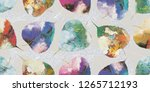 colorful leaf wall tile decor... | Shutterstock . vector #1265712193