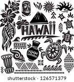 hawaii set | Shutterstock .eps vector #126571379