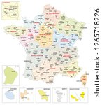 administrative map of the 13... | Shutterstock .eps vector #1265718226