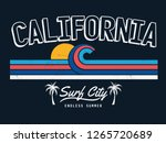 california vector illustration  ... | Shutterstock .eps vector #1265720689