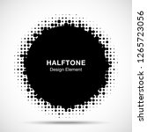 halftone circle frame abstract... | Shutterstock .eps vector #1265723056