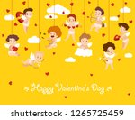 happy valentine day card with... | Shutterstock .eps vector #1265725459
