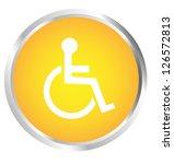 button wheelchair user | Shutterstock . vector #126572813