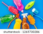 housecleaner tools set with... | Shutterstock . vector #1265730286