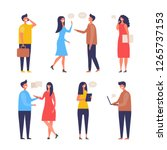dialogue people. communication... | Shutterstock .eps vector #1265737153