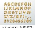metallic gold abc balloons ... | Shutterstock .eps vector #1265739079