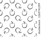 apple icon seamless pattern ... | Shutterstock .eps vector #1265741299