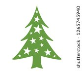 christmas trees green new year... | Shutterstock .eps vector #1265745940