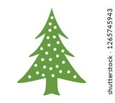 christmas trees green new year... | Shutterstock .eps vector #1265745943