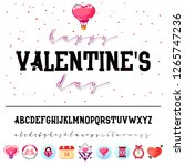 valentine's day. the font is... | Shutterstock .eps vector #1265747236