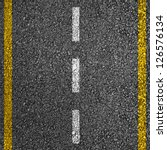 Road Texture With Two Yellow...