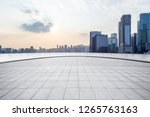 panoramic skyline and modern... | Shutterstock . vector #1265763163