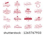 merry christmas. happy new year ... | Shutterstock .eps vector #1265767933