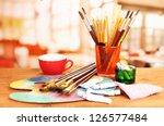 artistic equipment  paint ... | Shutterstock . vector #126577484