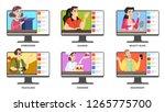 video blogger set. internet... | Shutterstock .eps vector #1265775700