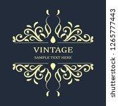 antique vintage frame blue... | Shutterstock .eps vector #1265777443