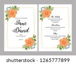 wedding invitations set with... | Shutterstock .eps vector #1265777899