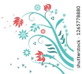 abstract background flowers and ... | Shutterstock .eps vector #1265778880