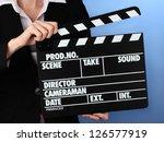movie production clapper board...   Shutterstock . vector #126577919