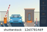 automatic rising up barrier ... | Shutterstock .eps vector #1265781469
