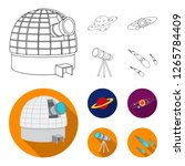 observatory with radio... | Shutterstock . vector #1265784409