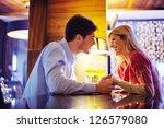 romantic evening date in... | Shutterstock . vector #126579080
