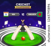cricket tournament participant... | Shutterstock .eps vector #1265795896