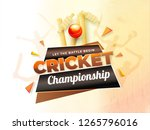 cricket championship poster or... | Shutterstock .eps vector #1265796016