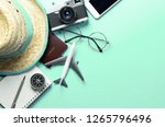travel accessories objects and... | Shutterstock . vector #1265796496