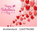 valentines day greeting card... | Shutterstock .eps vector #1265796580