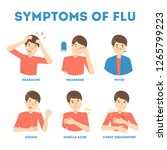 cold or flu symptoms... | Shutterstock .eps vector #1265799223