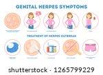 genital herpes symptoms.... | Shutterstock .eps vector #1265799229