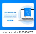 concept user manual book for... | Shutterstock .eps vector #1265808676