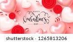 happy valentine's day festive... | Shutterstock .eps vector #1265813206