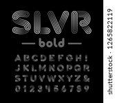 silver font. vector alphabet... | Shutterstock .eps vector #1265822119