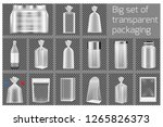 big set of transparent... | Shutterstock .eps vector #1265826373