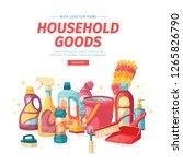 design banner house cleaning... | Shutterstock .eps vector #1265826790