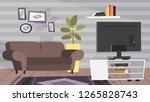 living room interior. modern... | Shutterstock .eps vector #1265828743