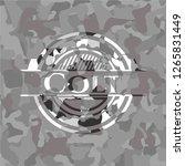 colt grey camo emblem | Shutterstock .eps vector #1265831449