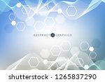 hexagonal abstract background.... | Shutterstock .eps vector #1265837290